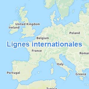 Carte lignes Europe ouest title=